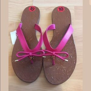 NEW Kate Spade pink bow charm sandals sz 10